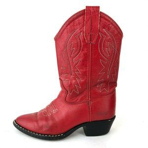 Old West J Toe RED CORONA Cowboy Western Boots